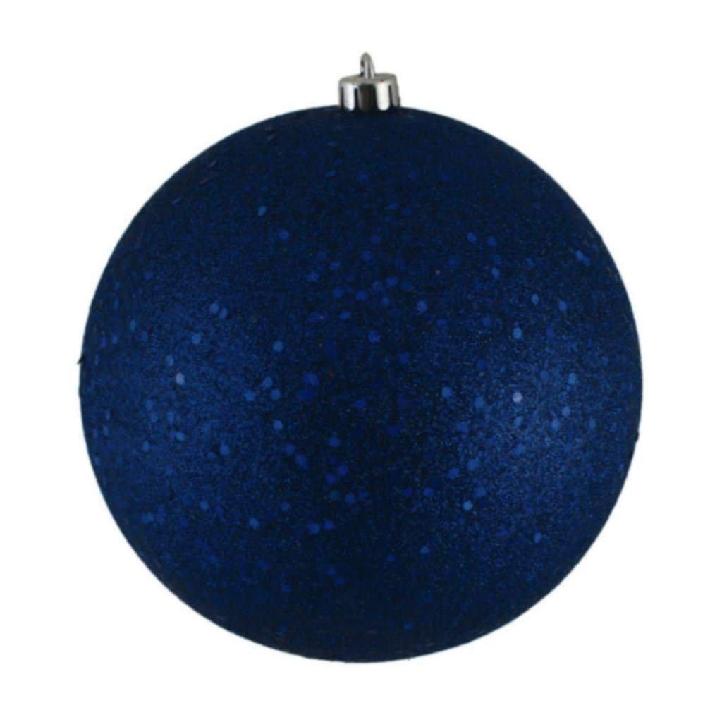 Vickerman 349717-4'' Sea Blue Sequin Ball Christmas Tree Ornament (6 pack) (N591062DQ)