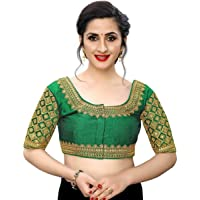 Party Wear Readymade Bollywood Designer Indian Style Padded Blouse for Saree Crop Top B 386 Green