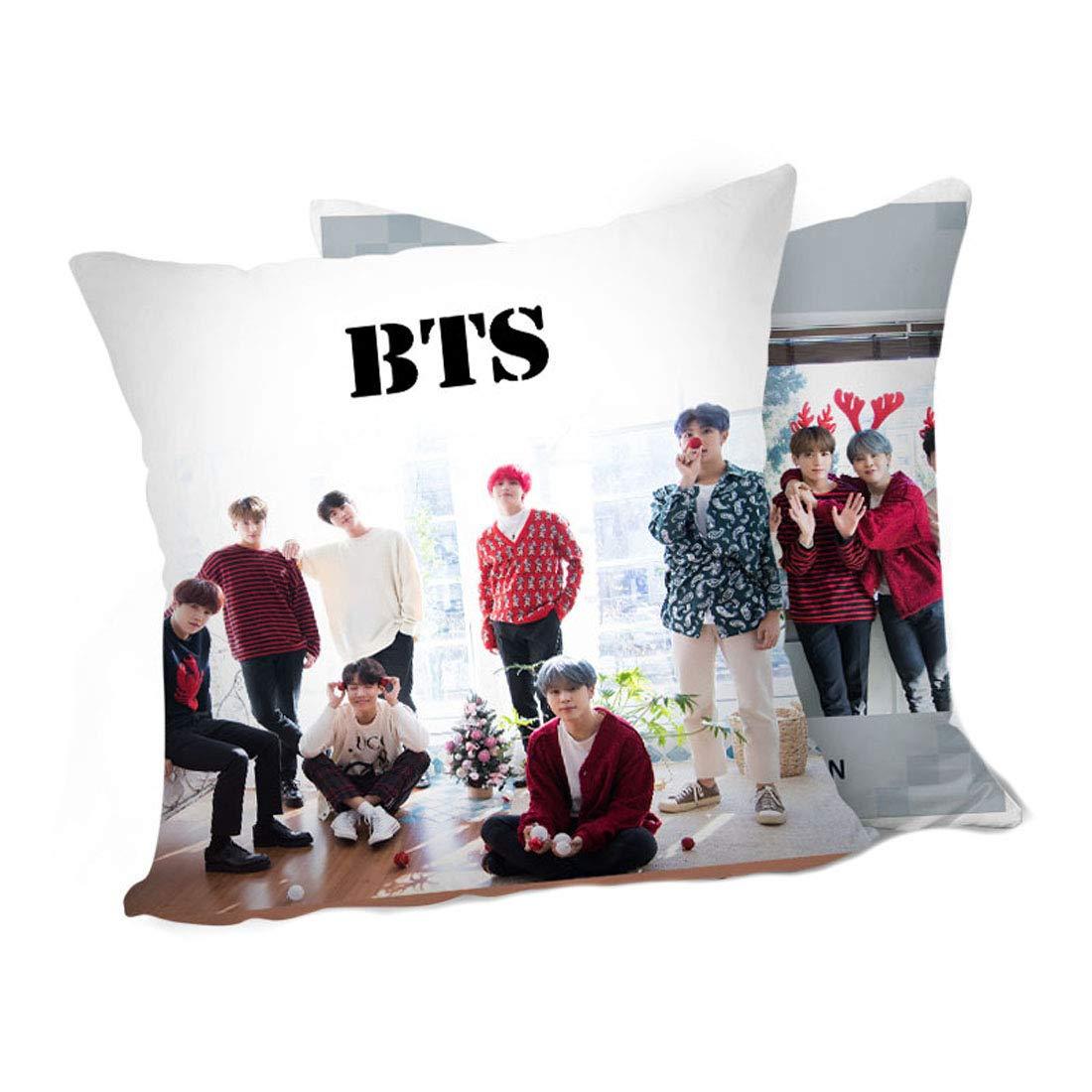 ALLDECOR Kpop Jimin SUGA Double Side Sofa Cushion BTS Throw Pillow Bangtan Boys