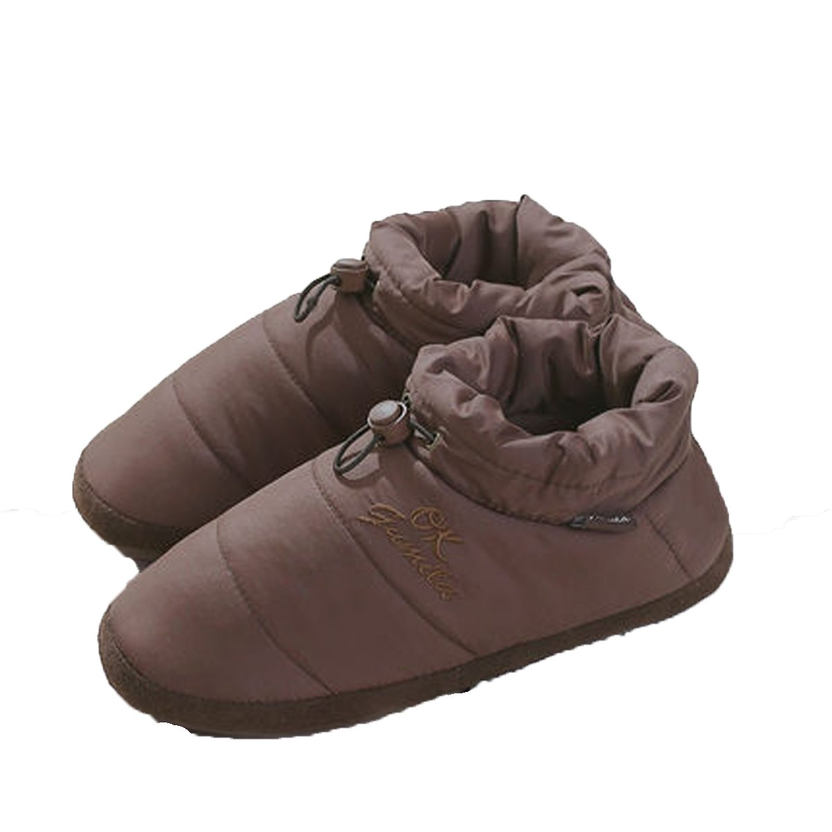 MENG SHENG Unisex Non-Slip Indoor Floor Cotton Slippers