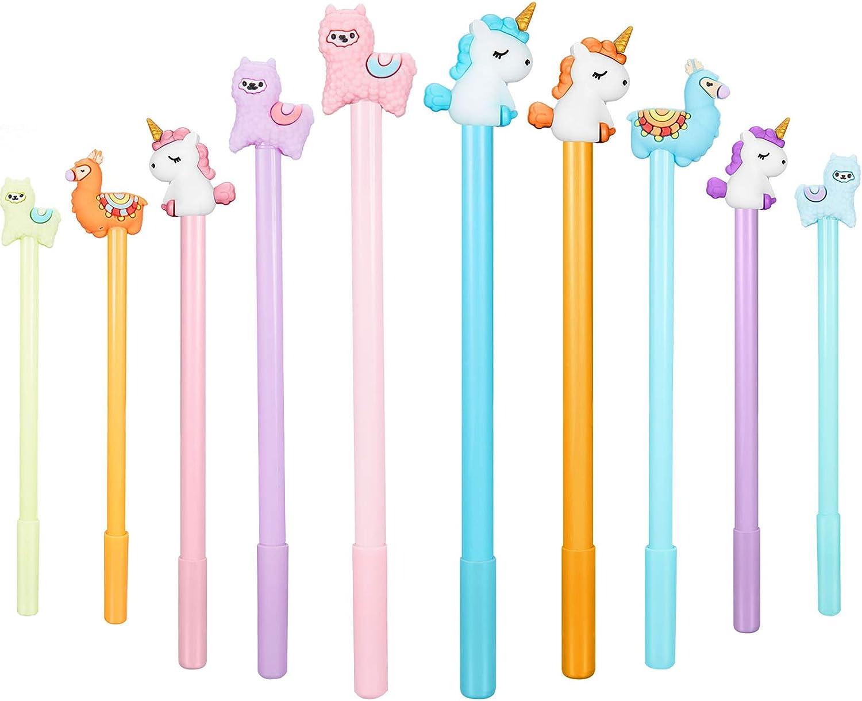 20 Pieces Cartoon Animal Pens, Including Alpaca Pens Unicorn Pens and Sheep Camel Gel Pen for Office School Supplies