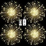 FOOING 4 Pack Firework Lights Led Copper Wire