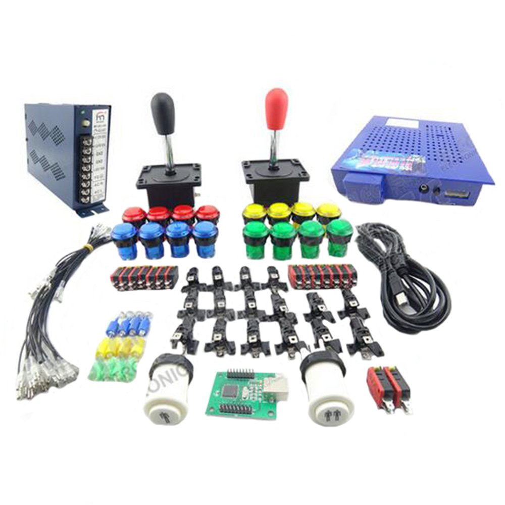 WINIT Arcade Kit DIY Accessories 412 In 1 Jamma Game Board 16A Power supply 16 x Button 2 x Joystick For Arcade MAME JAMMA Games DIY 2Player by Winit