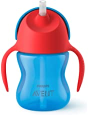 Philips Avent Vaso con popote flexible, color Rojo/Azul, 7Oz/200ml