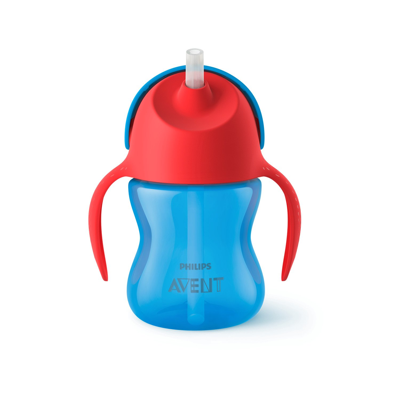 Philips Avent SCF796/01 Strohhalmbecher, 200 ml, blau/rot Philips GmbH - Baby (VSS/FO)