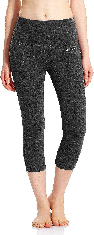 "BALEAF Women's 20"" / 28"" High Waisted Yoga Leggings Workout Capri Tummy Control Pants with Pocket(Plus Size/Regular)"