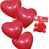 Valentine's Day Heart Shaped Balloons - 20 Pack - For a romantic Valentine Evening