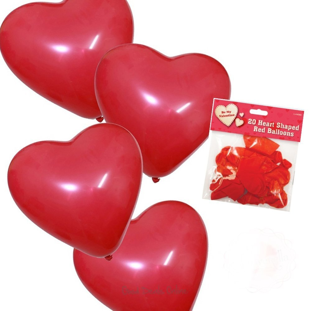 Valentineu0027s Day Heart Shaped Balloons   20 Pack   For A Romantic Valentine  Evening: Amazon.co.uk: Toys U0026 Games