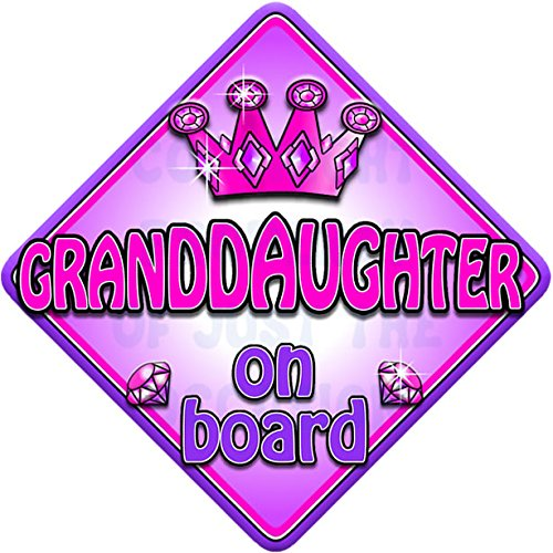 Personalised Child//Baby On Board Car Sign ~ Mummys Little Girl On Board ~ Pink