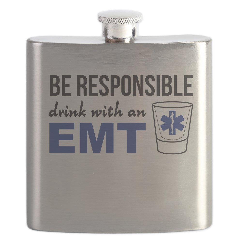 大きな取引 CafePress – Drink with an EMT EMT – ステンレススチールフラスコ –、6オンスDrinkingフラスコ B0742FGY7M B0742FGY7M, カスヤグン:7be42bdb --- a0267596.xsph.ru