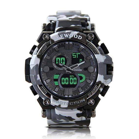Reloj deportivo para hombre, resistente al agua, movimiento de cuarto, digital, multifuncional