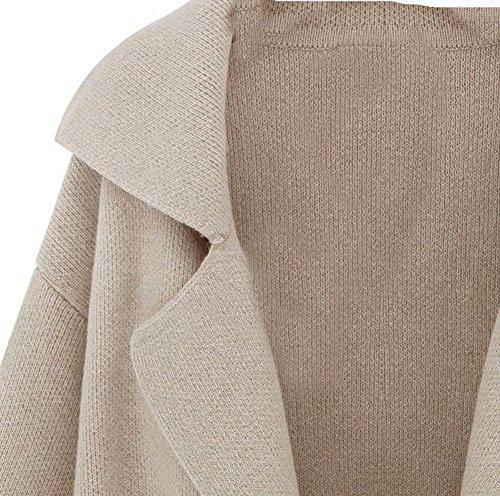 Cardigan Casual Manteau Femme Veste Couleur souris Chauve Manches de Chandail R Femme Gris en Tricot Nouveau SODIAL Lache FqH4n