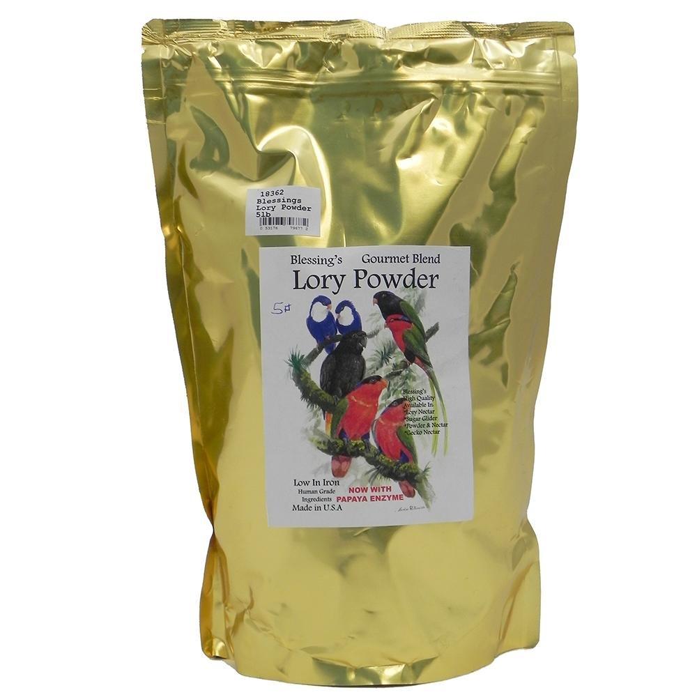 Blessings Gourmet Lory Powder Dry Lorikeet Food (5Lb) by Blessings