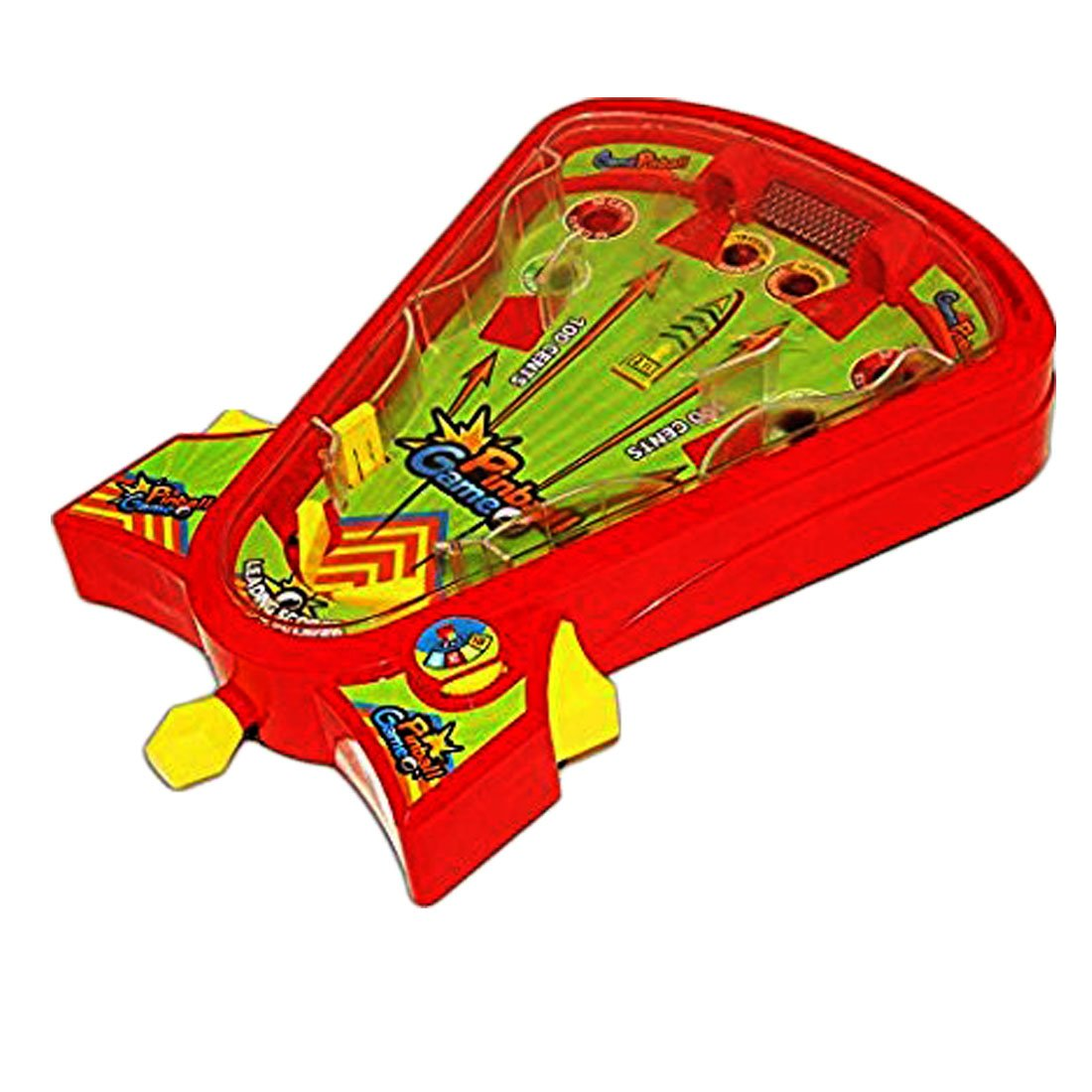 Table Top Pinball Game - Desktop Arcade Pin Ball Board Game Ages 5 up | Portable Tabletop Single Player Pinball Skills Game - Classic Edition by Toy Cubby