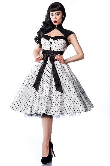 Super Vintage Rockabilly - Vestito anni 50, nero e bianco, RockŽnŽRoll  FW13