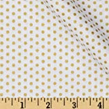Spot On Metallic Pindot Blanc Fabric By The Yard