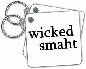 3dRose Wicked Smaht Black Key Chains, Set of 2 (kc_193282_1)