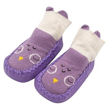 ZHRUI Zapatos de calcetines antideslizantes para niños pequeños ...