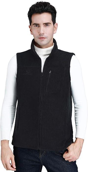 e62b4fc2a48ed CAMEL CROWN Fleece Vest Men Women Full-Zip Sleeveless Jacket Plus Size with Pocket  Lightweight