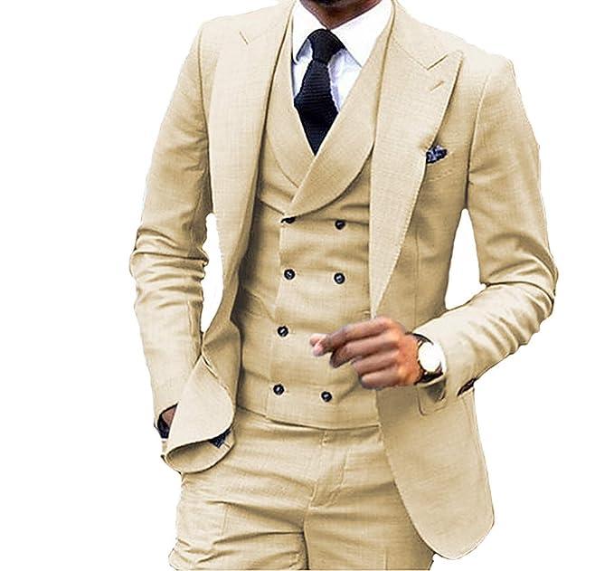 Amazon.com: P.L.X - Traje de hombre para boda con traje de ...
