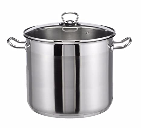 Pots & Pans Pan Sets Honest Steel Deep Stock Soup Pot Saucepan Cooking Stew Catering Casserole Pan With Lid