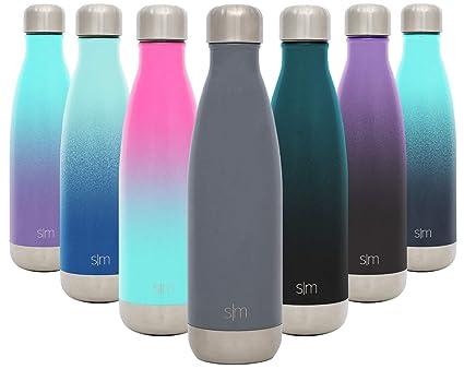 Simple Modern Wave 500ml Termo Botella de Agua Acero Inoxidable, Botella termica sin BPA Mantiene el Temperatura Aislada al Vacío Doble Pared para ...