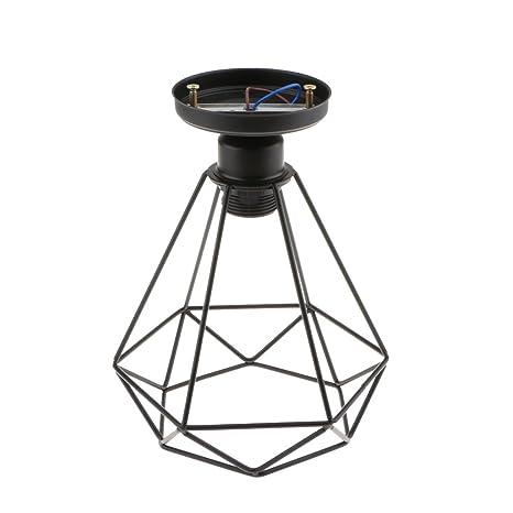 Baosity Antique Black Wire Loft Pendant Ceiling Light Lamp Cage For