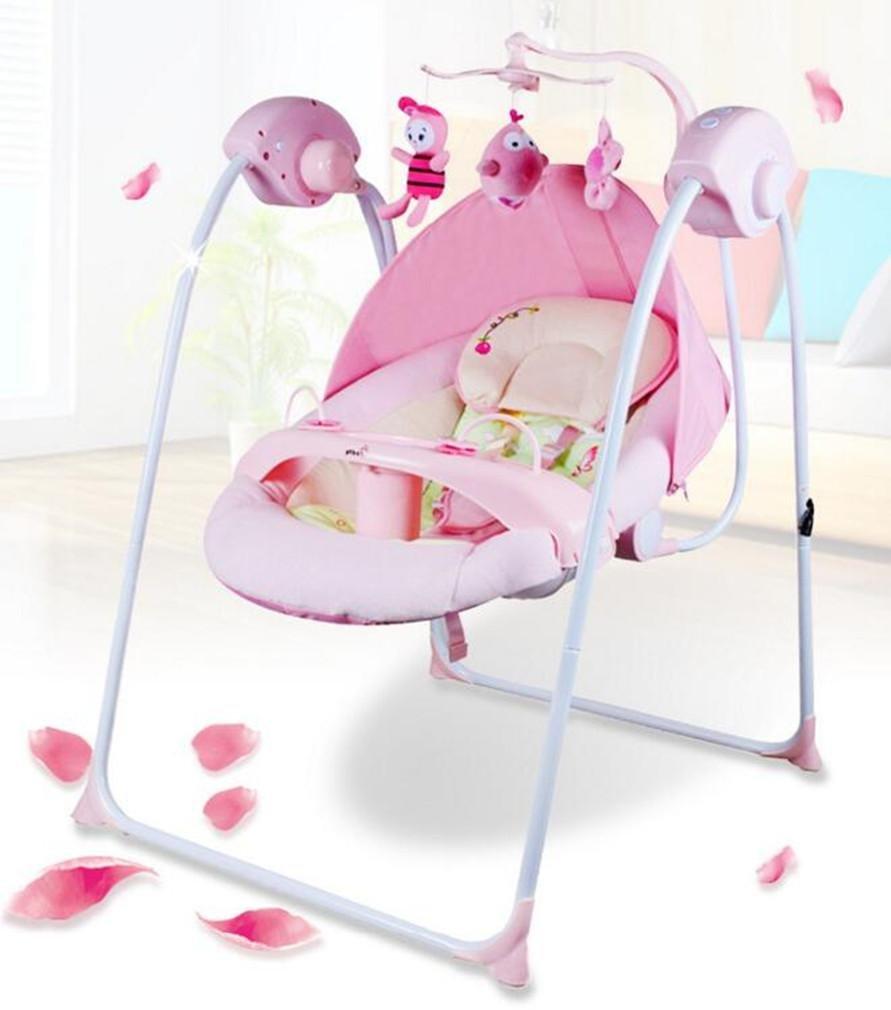 NWYJR Kleinkind Rocker Neugeborene geeignet Vibration Elektrischer Multifunktions Appease Musik Bett Baby-Schaukel