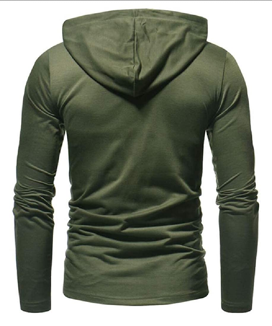 M/&S/&W Mens Pullover Sweaters Hooded Sweatshirts Tee Tops with Pocket