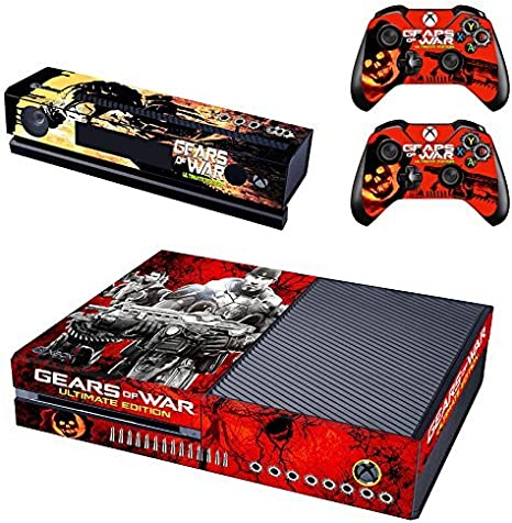 Gears of WAR Ultimate Edition Exclusive Full Protective Xbox One Skin with 2PCS Protective Vinyl Skin Decals Cover for Microsoft Xbox One Controllers by Free sticker: Amazon.es: Videojuegos