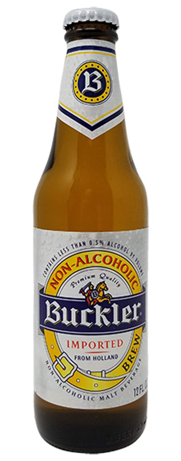 Buckler Non-Alcoholic Beer, Imported From Holland, 12 fl oz (24 Glass Bottles) by Buckler