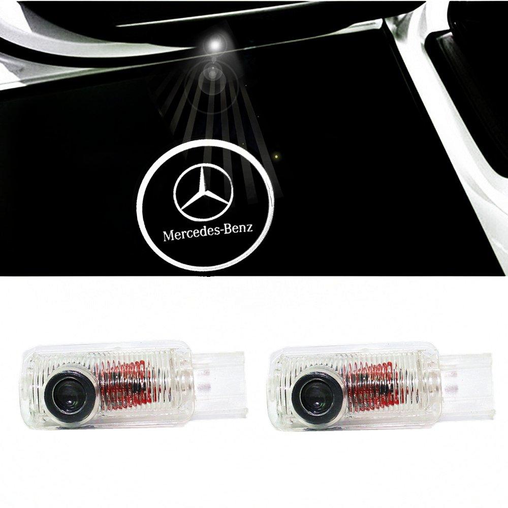 ColorBuy Tü rlicht Projektor LED Logo Tü r Einstiegsbeleuchtung Einstiegslicht Autotü r (Benz 2)