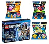 Lego Dimensions Starter Pack + Adventure Time Finn The Human Level Pack + Jake The Dog Team Pack + Marceline The Vampire Queen Fun Pack for Playstation 4 or PS4 Pro Console