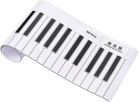Godyluck Digitación Versión 88 Teclas Teclado de Piano Guía ...