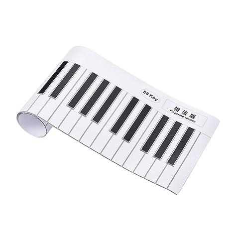 ammoon 88 teclas piano teclado práctica gráfico hoja versión piano guía de enseñanza Herramienta de ayuda