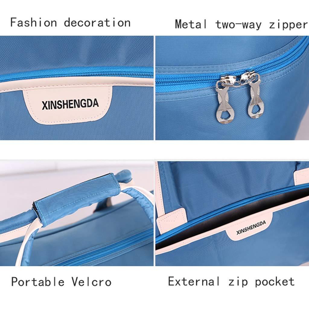 Handbag Large Capacity Storage Bag Travel Bag Unisex Foldable Silent Casters Trolley Bag Sunscreen Luggage Bag Color : Black, Size : 43L Waterproof