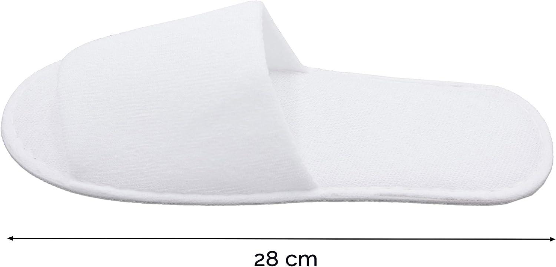 Taille Unique ZOLLNER 10 Paires Pantoufles Hotel Blanc
