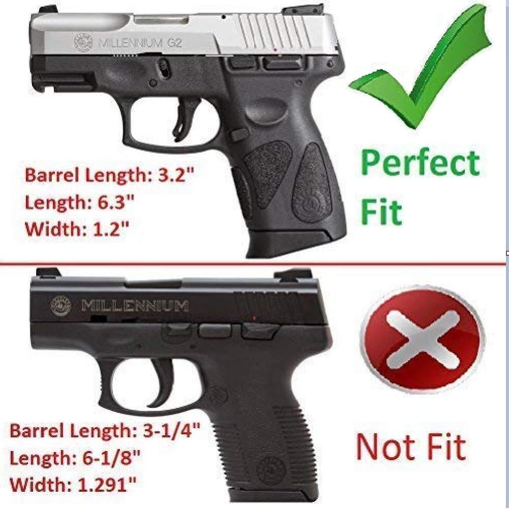 Taurus PT111 G2 Holster Taurus G2C Holsters, Also Fit Taurus Millennium  PT132 PT138 PT145 PT745, 360 Degree Adjustable Paddle Tactical Pistol