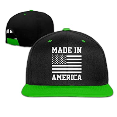 Military Pride America Flag Mens Adjustable Snapback Hip Hop Dad ...