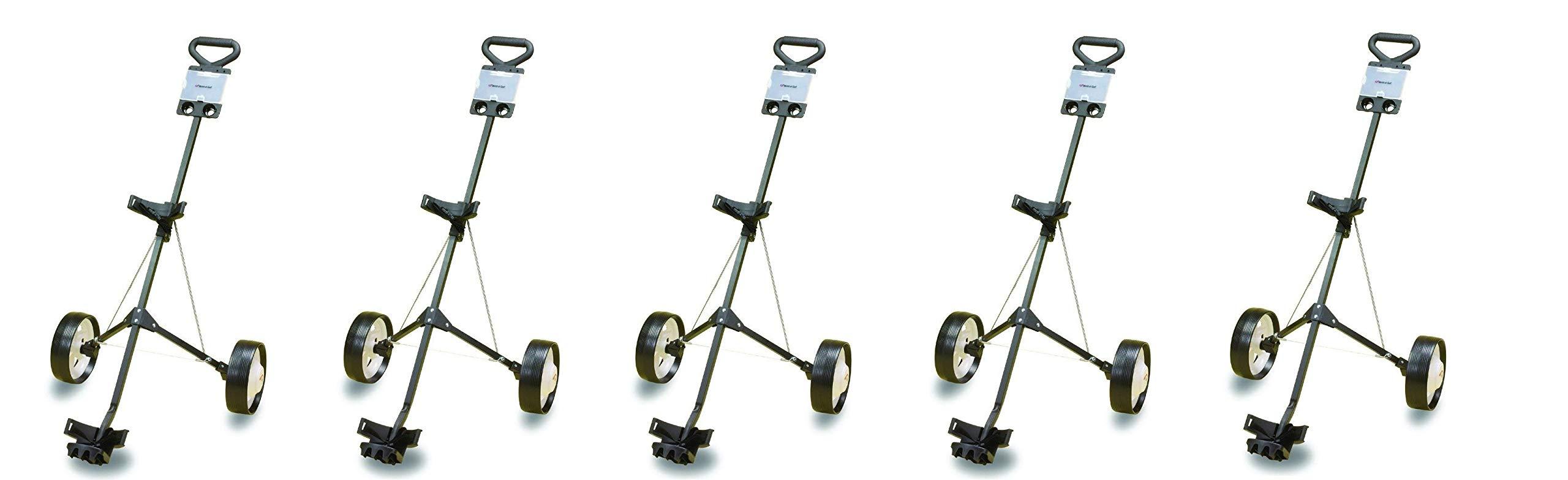 JEF WORLD OF GOLF Deluxe Steel Golf Cart (5-Pack)