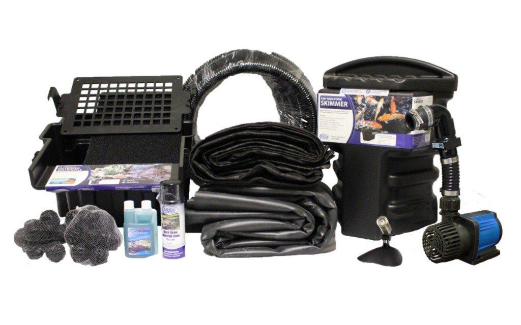 15 x 20 Small Koi Pond Kit 3000 GPH Pump Anjon 16 Inch Waterfall and Skimmer PVCSAN0 by Patriot