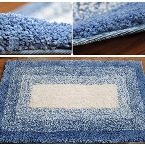 DIDIDD Super soft blue rug shaggy rug / comfortable and durable antibacterial 5080cm brown,Blue by DIDIDD (Image #3)