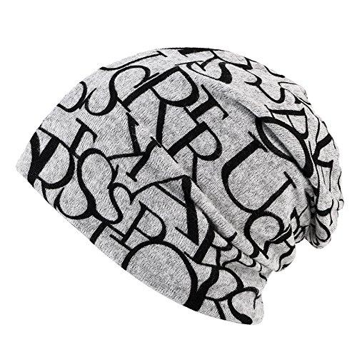 cubierta sombreros gris Señoras caps sombreros Carta caps tapas tejidos invernales multifunción doble beanie Baotou tejidos Navidad Halloween Grey sombreros térmicas MASTER cabeza n7WZqRw