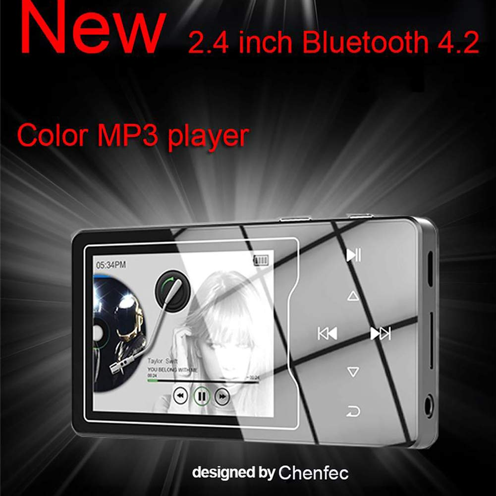 MP3 Player with Bluetooth 4.2, 8GB Portable Lossless Sound Music Player with FM Radio Recorder Touch Button Music Speaker,Support up to 128GB (Gold) by Lovt (Image #3)