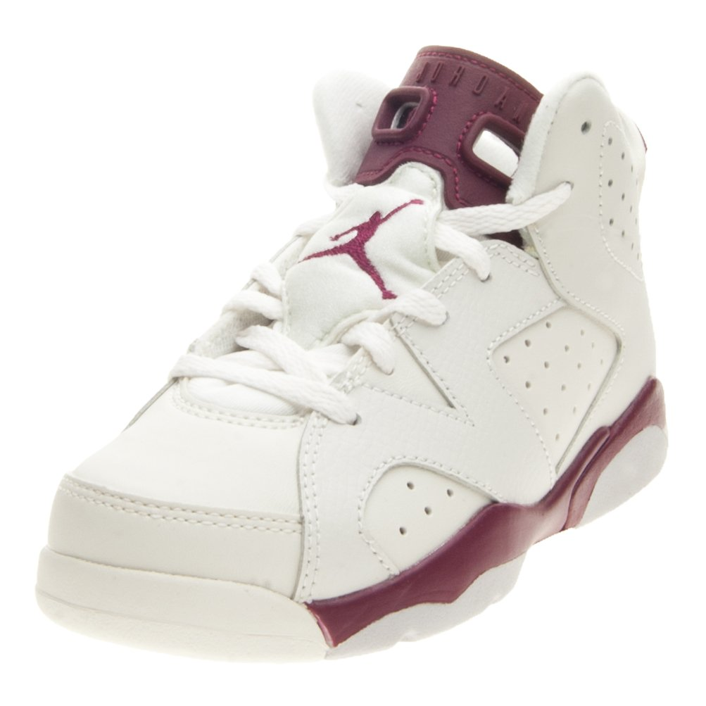 finest selection 833e2 07b41 Amazon.com   Jordan Retro 6-maroon-preschool-384666-116 (12c)   Sneakers