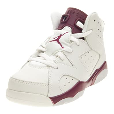 5a8eae8cb4e Image Unavailable. Image not available for. Color: Jordan 6 Retro BP 384666  116 Off White/New Maroon Size ...