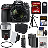 Nikon D7500 Wi-Fi 4K Digital SLR Camera & 18-140mm VR DX Lens + 64GB Card + Battery & Charger + Shoulder Bag + Tripod + Flash + Soft Box + Filter Kit