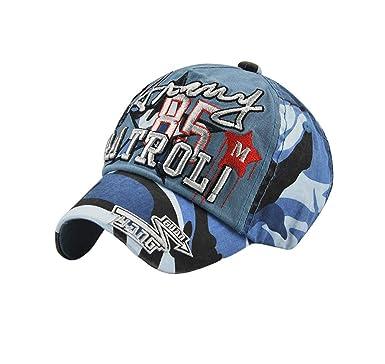 Feiboy Niño Guapo Camuflaje Hat Suave Clásico Cap Transpirable ...