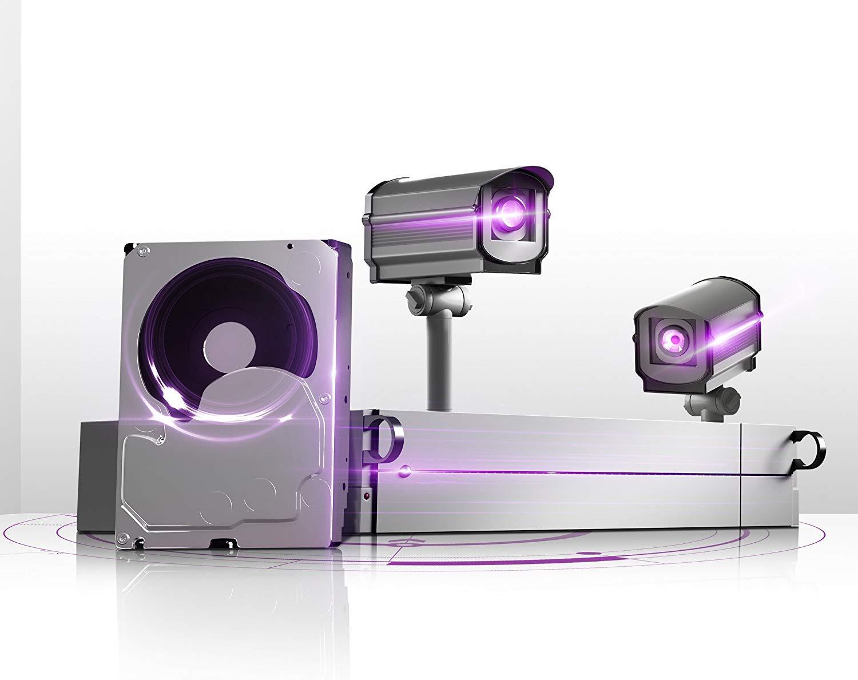 WD Purple 8TB Surveillance Internal Hard Drive - 5400 RPM Class, SATA 6 Gb/s, 256 MB Cache, 3.5'' - WD81PURZ by Western Digital (Image #6)