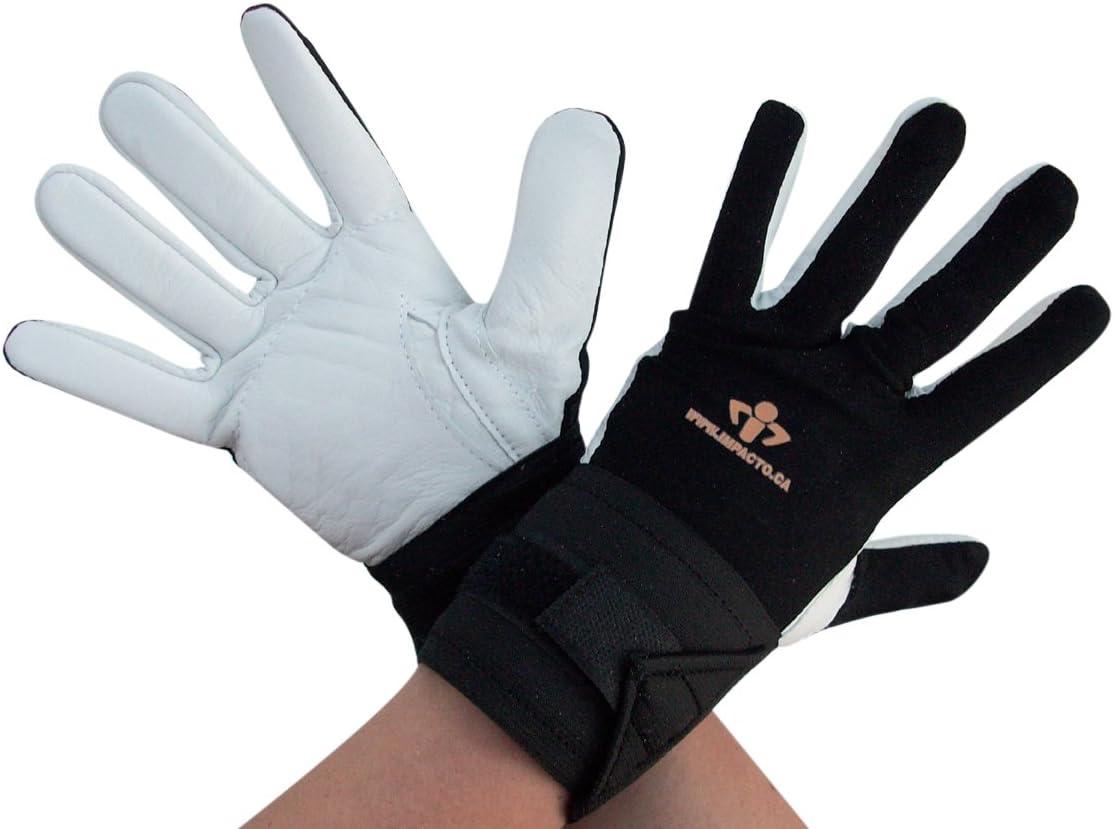 Impacto 473-30 Gant//support pour poignet Paume//doigts Noir//blanc Taille M